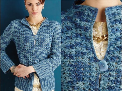 #14 Tunic-Length Jacket, Vogue Knitting Crochet 2014