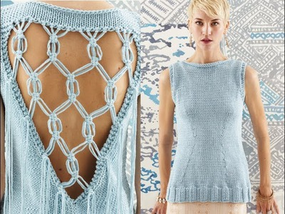 #16 Macrame Vest, Vogue Knitting Spring.Summer 2014