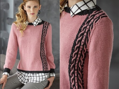 #16 Two-Color Cable Pullover, Vogue Knitting Holiday 2013