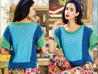 #19 High.Low-Hem Tee, Vogue Knitting Spring.Summer 2014