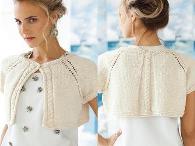 #2 Eyelet Raglan Cardi, Vogue Knitting Early Fall 2013