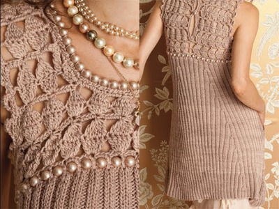 #3 Pearl Bodice Dress, Vogue Knitting Fall 2012