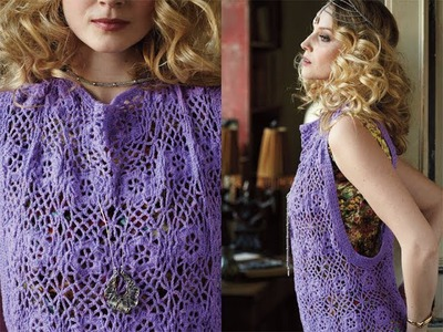 #30 Lacy Topper, Vogue Knitting Crochet 2013 Special Collector's Issue