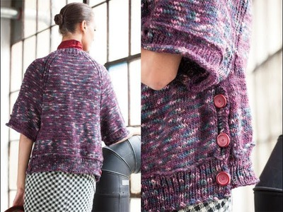#37 Buttoned Cape, Vogue Knitting Winter 2011.12