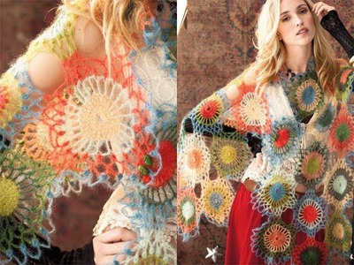 #42 Motif Wrap, Vogue Knitting Crochet 2012