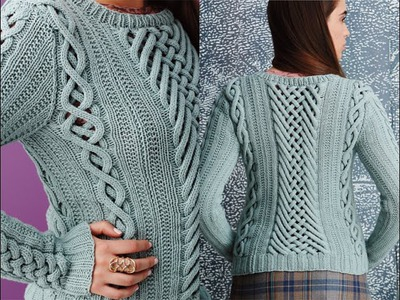 #8 Fretwork Pullover, Vogue Knitting Fall 2014