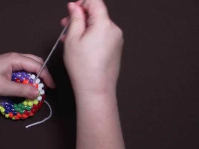 Bead Crochet Demo--Seven-Color Torus in Pony Beads