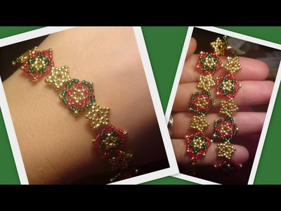 Beaded Star Bracelet.Necklace Christmas set Beading Tutorial by HoneyBeads1 (Photo tutorial)