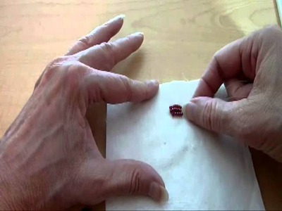 Beading Lesson: Beaded Raspberry on Fabric