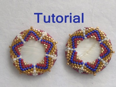 BeadsFriends: Beaded bezel tutorial - How to bezel a disc with beads (Peyote Stitch)