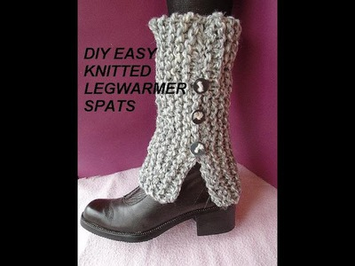 BEGINNER KNITTED LEGWARMER SPATS, all sizes, baby to adult,