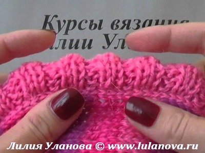 Безрукавка спицами Полосатая - 2 часть - Knitting jerkin spokes