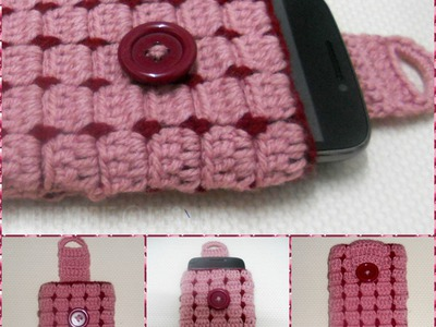 Cell phone case Part-1 crochet Tutorial-Hackovanie Crochet