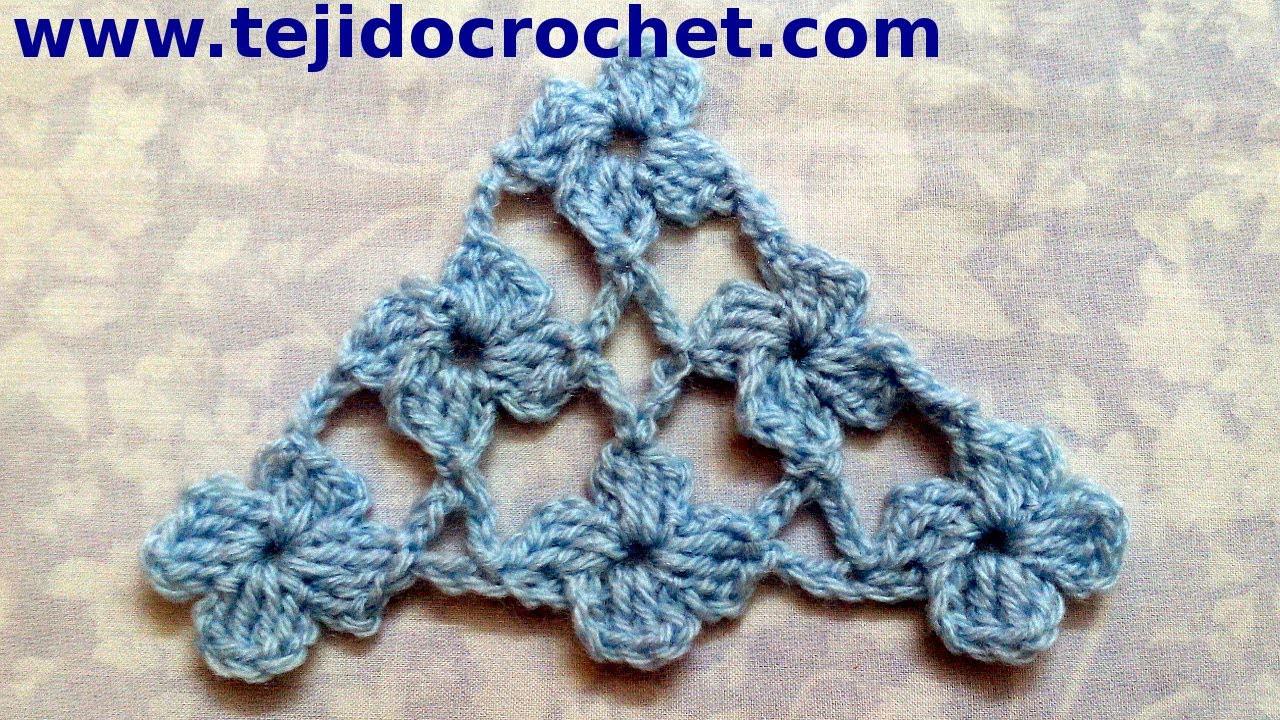 Chal En Tejido Crochet Con Punto Margarita Tutorial Paso A