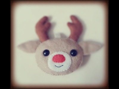 Christmas : How to make a Reindeer Plushie Tutorial