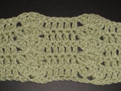 Cluster Shell and Double Crochet Combination - Blanket -Left hand Crochet Geek