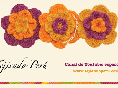 Cómo tejer flores onduladas a crochet