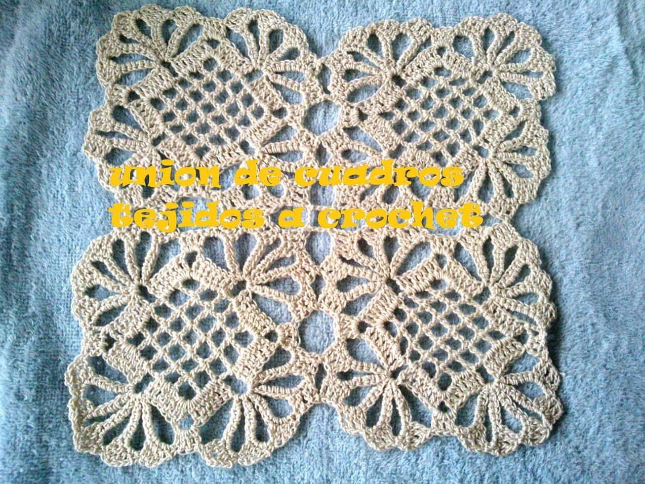Como hacer un mantel a crochet uniendo cuadros tutorial - Hacer un mantel ...