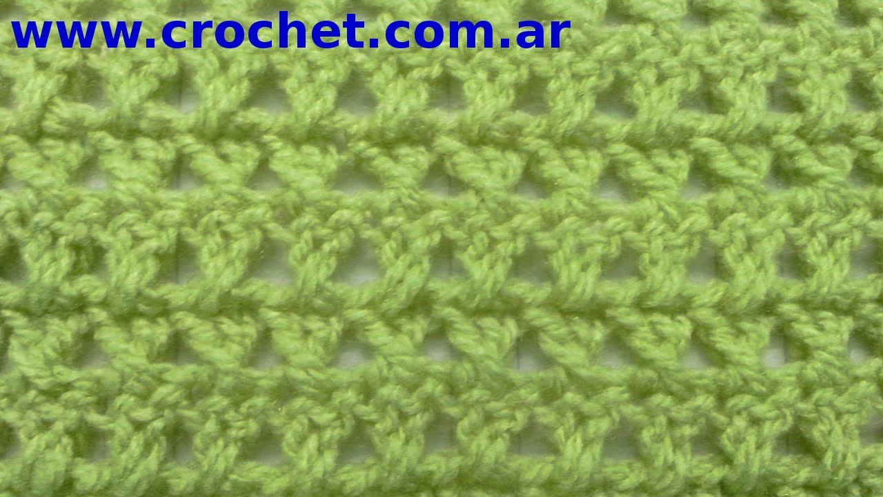Como tejer el Punto Cruzado en tejido crochet tutorial paso a paso.