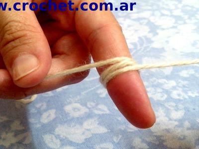 Como tejer en redondo con un anillo doble en tejido crochet tutorial paso a paso.