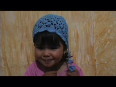 Como Tejer Un Gorro en Crochet para niña