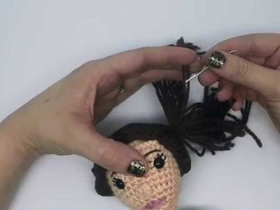 Crochet Amigurumi HAIR tutorial with CraftyisCool AmiguruME