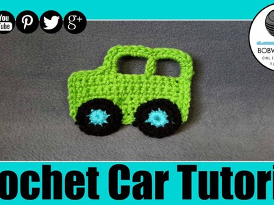 Crochet Car Applique Tutorial