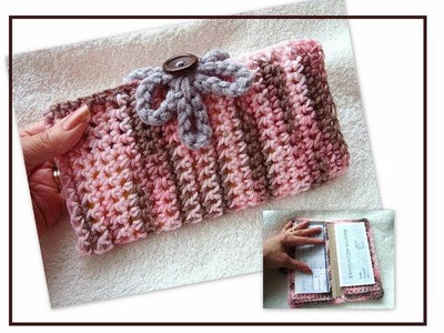 CROCHET CHEQUE BOOK COVER, free pattern on how to crochet.