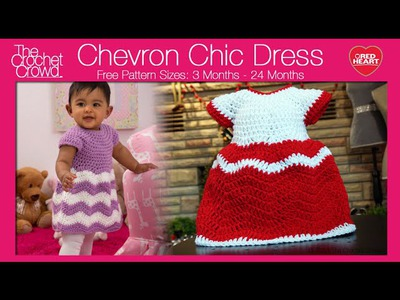 Crochet Chevron Chic Baby Dress Tutorial