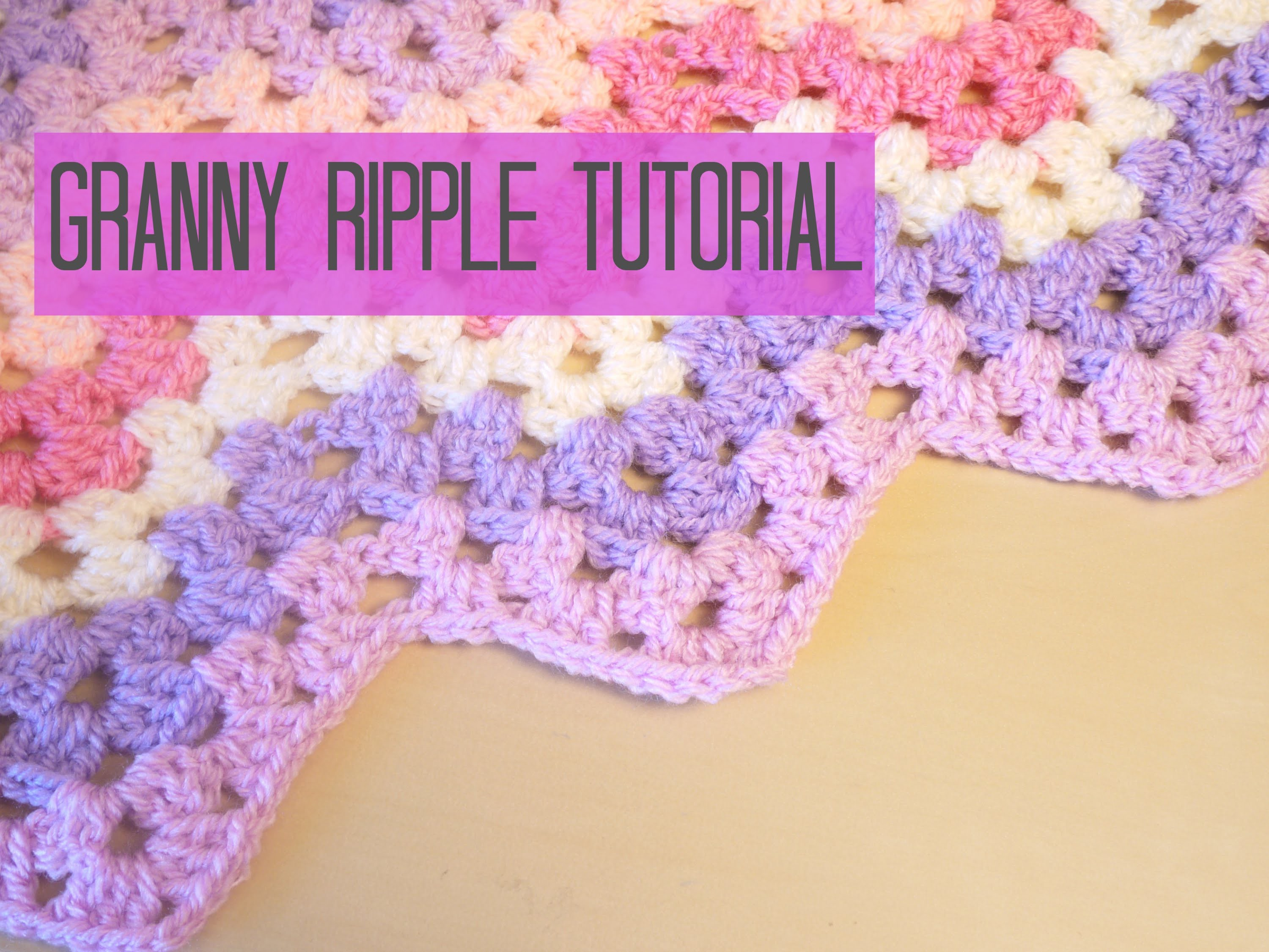 CROCHET: Chevron.Granny ripple tutorial | Bella Coco