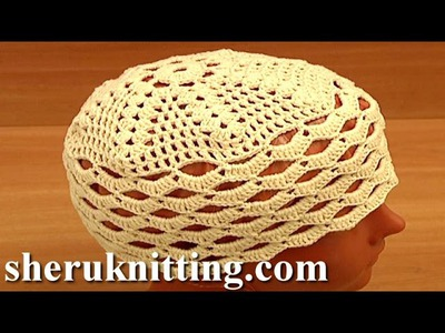 Crochet Easy Hat For Women Tutorial 10 Part 1 of 2 قبعة بسيطة الكروشيه