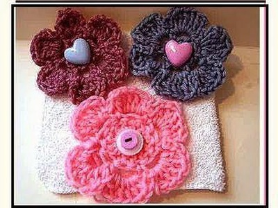 Crochet flower # 11, how to crochet a flower, video tutorial