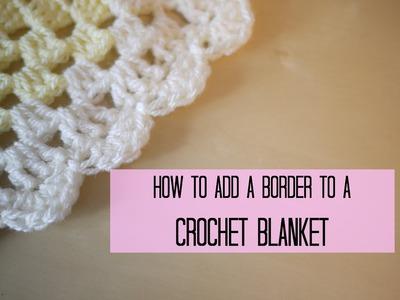 CROCHET: How to add a crochet border (scalloped.shell edging) | Bella Coco