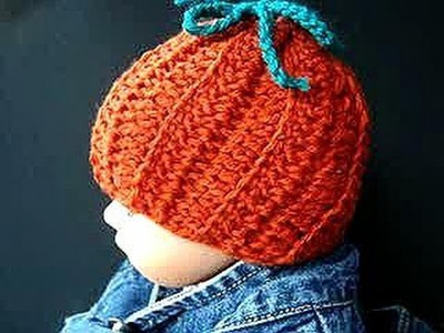 CROCHET PATTERN,  little pumpkin hat, or bathroom tissue cover, halloween, how to diy