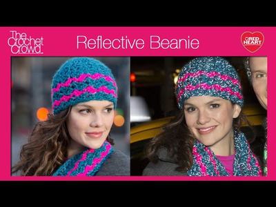 Crochet Reflective Beanie Hat Tutorial