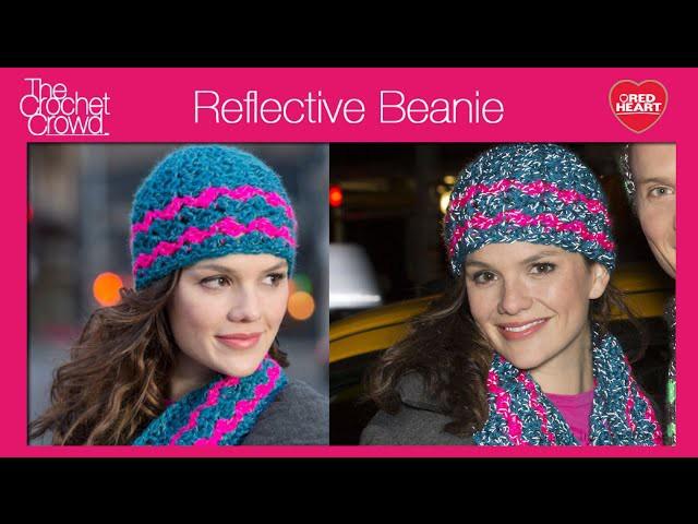 Crochet Reflective Beanie Hat Tutorial