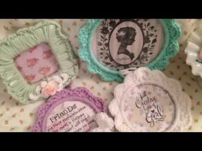 Crochet ring tags, bows, hearts and frame!!