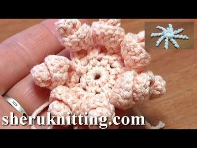 Crochet Spiral Petal Flower Tutorial 8 DIY Blume häkeln