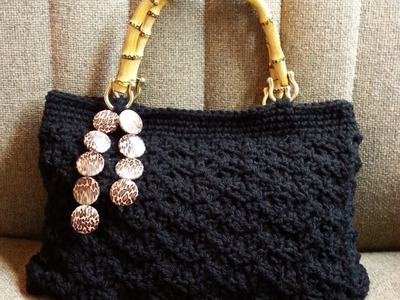 #Crochet Splatter Stitch Handbag Purse with Hand Sewn Liner #TUTORIAL