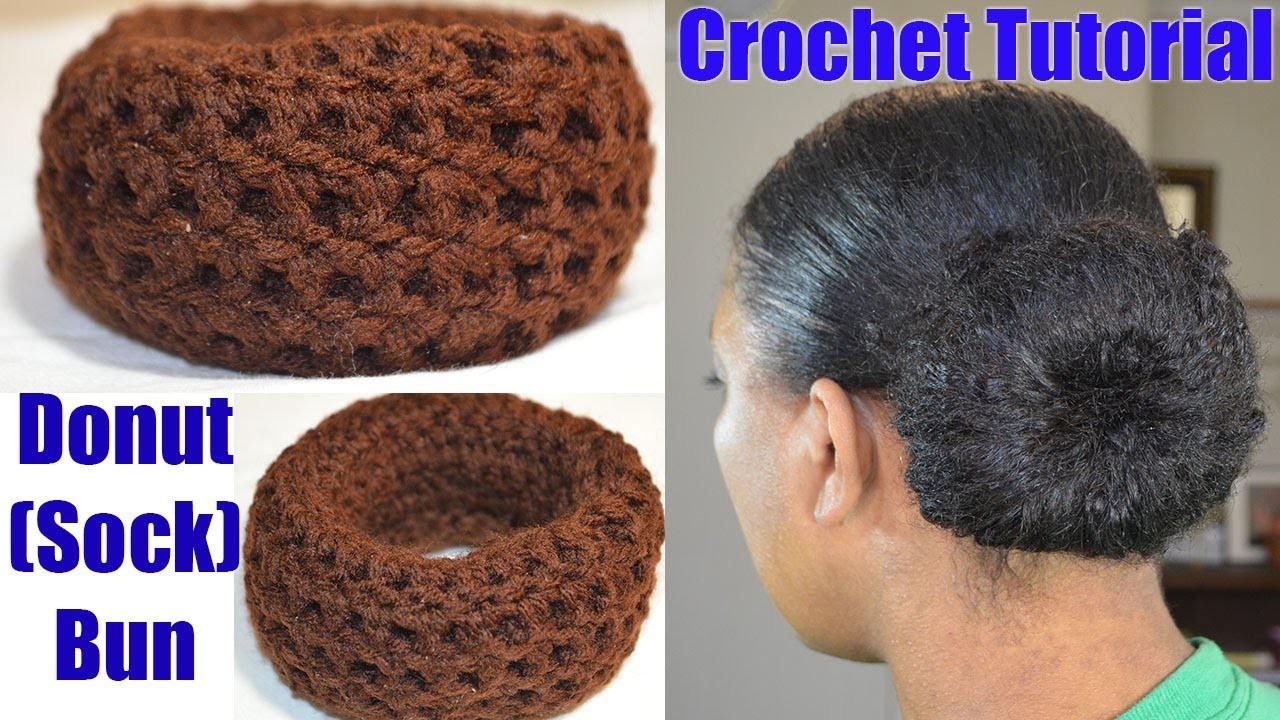 "Crochet Tutorial - Donut ""Sock"" Bun Maker Simple & Quick Crochet Project"