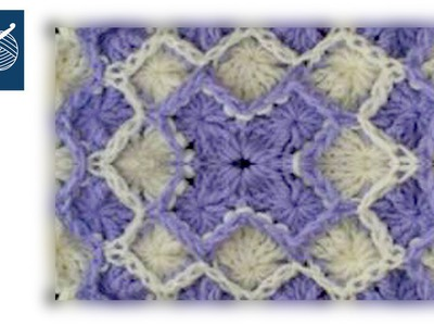 Crochet Wheel Stitch Square - Catherine's Wheel Left Hand Crochet Geek