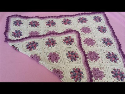 Daisy Granny Square Blanket - Part 1 (Crochet Tutorial) - 8 Petal Flower