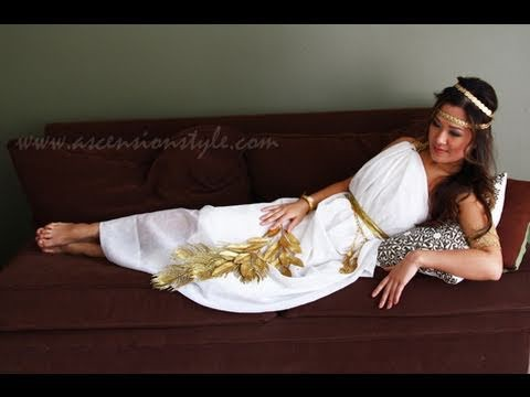 DIY Greek Goddess Costume Easy Tutorial How To Make