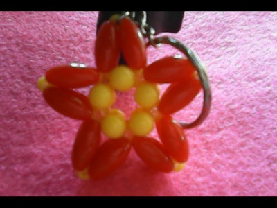DIY-HOW TO MAKE A KEY HANGER OF STARS OF BEADS,cara membuat gantungan kunci bintang