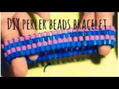 DIY : perler beads bracelet !! ♥