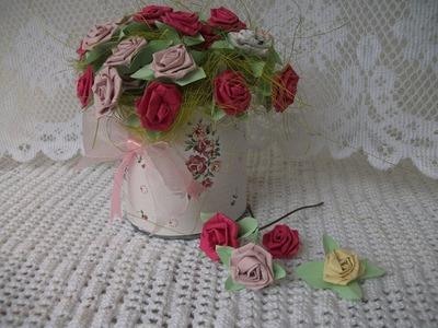 DIY: Rosinha flores de papel, paper roses tutorial crafts