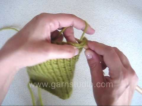DROPS Knitting Tutorial: How to pick up sts along edge