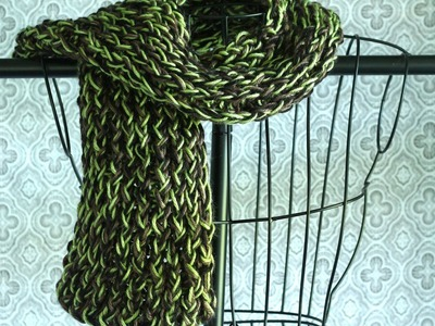 Easy Loom Knitting. Loom Knit Scarf