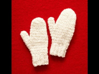 Easy to crochet Mittens Lion Brand Pattern