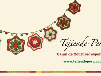 Estrella de flor africana tejida a crochet (crochet african flower star tutorial)